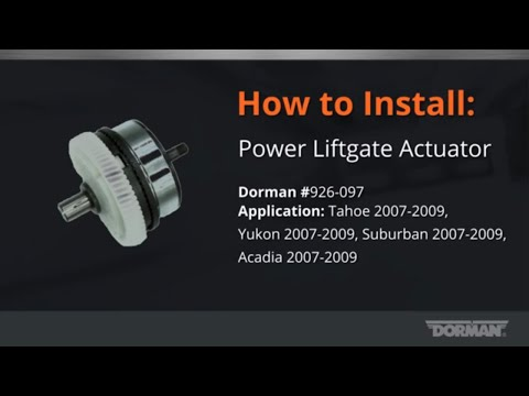 Power Lift-gate Actuator Installation by Dorman Products