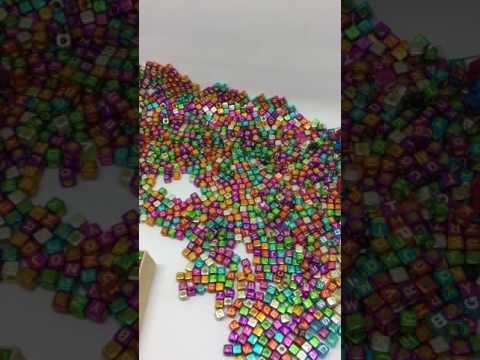 diy plastic alphabet letters beads cube charms for bracelets