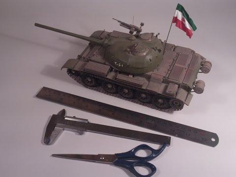 Amazing paper model of cold war era tank T-54