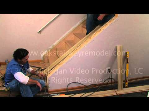 How to install cap boards when remodeling stairs with tread boards