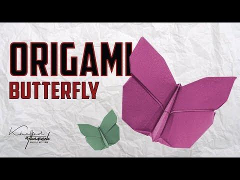 Origami Butterfly | عمل فراشة من الورق بسهولة