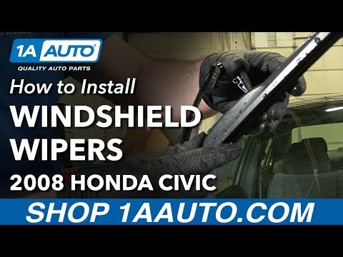 How to Install Replace Windshield Wiper Blades 2008 Honda Civic