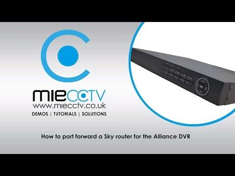 Port Forwarding Guide for Alliance or Hikvision DVR on a Sky Hub Router