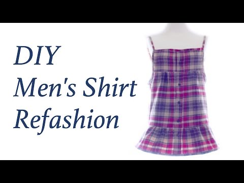 Refashion DIY Men's Shirt to Cami Dressㅣmadebyaya