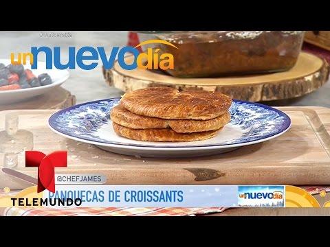 Recetas de cocina: Cómo hacer Panquecas de Croissants   Un Nuevo Día   Telemundo
