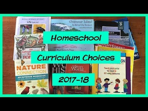 Homeschool Curriculum Choices 2017-2018