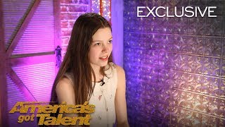 Courtney Hadwin Thanks Howie Mandel For Sending Her To Live Shows - America's Got Talent 2018