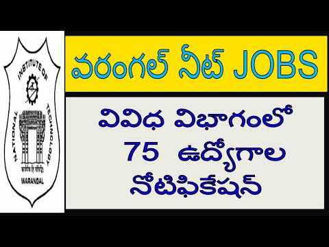NIT warangal  recruitment 2017 ||NIT JOBS|| TELANGANA GOVT JOBS||10+2 jobs in telanhana