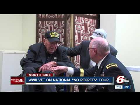 90-year-old World War II veteran is on a cross country tour with his son
