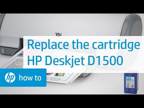 Replacing a Cartridge - HP Deskjet D1500 Printer