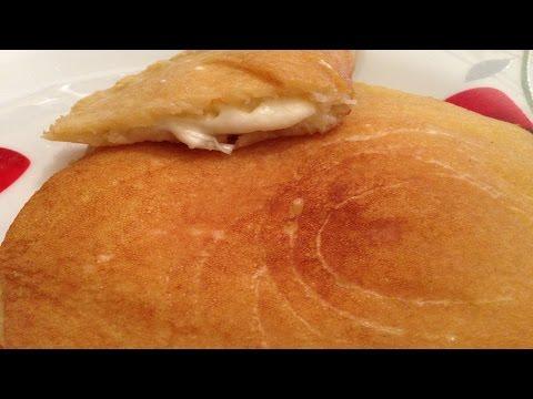 Atayef bil jibneh - Lebanese pancakes with cheese - طريقة تحضير القطايف بالجبنة