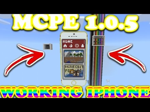 Mcpe 1.0.5 Working Iphone 6 Plus//In Mcpe//Ios And Android//Command Block Creation!!!