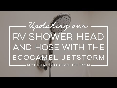 Replacing RV Shower Head and Hose