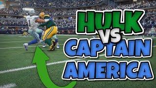 HULK VS CAPTAIN AMERICA - SOMEONE GETS DESTROYED!! Madden 18 Super Hero Series