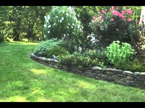 Stone Wall and Flower Bed.Bucks County Area Landscaping: orserlandscaping.com