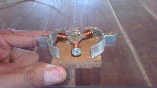 Screw motor , how to make 3V DC motor using screw