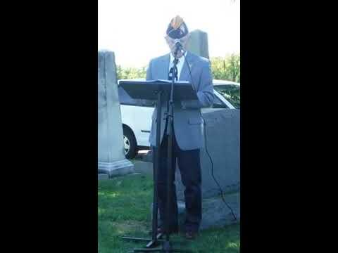 Military Headstone Dedication at Shockoe Hill Cemetery, Richmond, VA