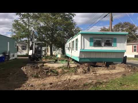 Making room for an energy efficient Manufactured Home 609-641-1444