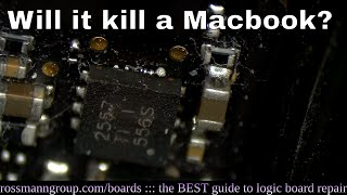 Can plugging in a USB drive kill a Macbook?