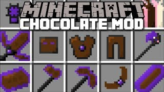 Minecraft CHOCOLATE MOD / EAT ALL THE CHOCOLATE IN THE WORLD AND FIGHT THE BEAST!! Minecraft