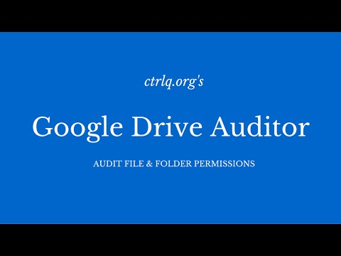 Google Drive Auditor - Who Can Access Your Files