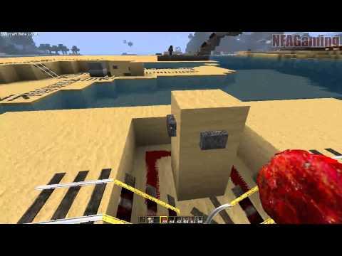 Minecraft - Powered Rails Tutorial: 3-Way Intersection [Part 4]
