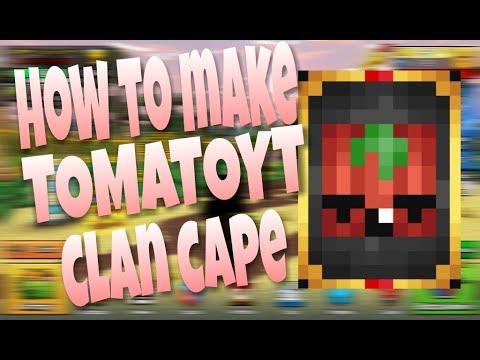 Pixel gun 3D: How to make TomatoYT clan cape  | free copy| touch tutorial