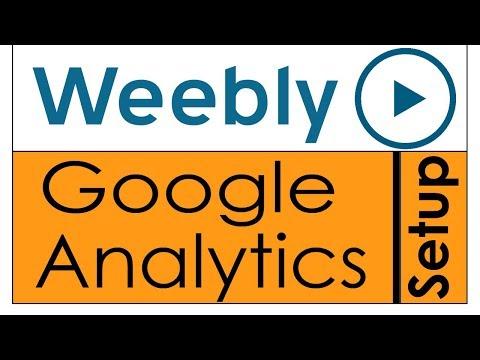 Weebly Google Analytics setup