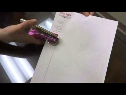 How to Use Your Hand- Held Notary Embosser