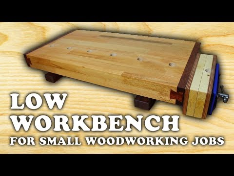 Building a Low Woodworking Bench [1/4]