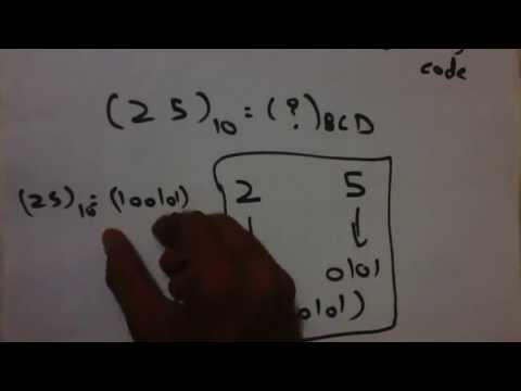 Decimal to BCD code conversion