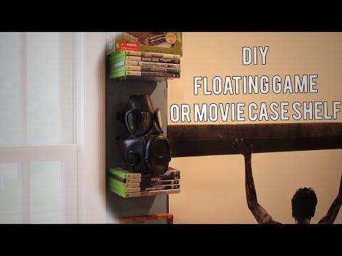DIY : Floating Game/Movie Case Shelves