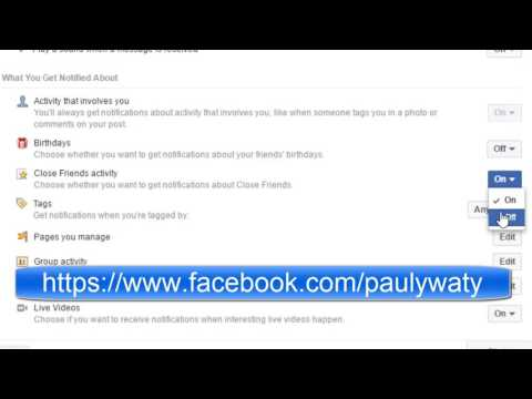 How to turn off close friends activity notifications in Facebook