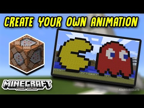 CREATE YOUR OWN ANIMATION IN MINECRAFT PE USING COMMAND BLOCKS!!