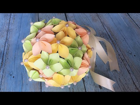 ABC TV | How To Make Paper Flower Wedding Bouquet With Shape Punch - Craft Tutorial