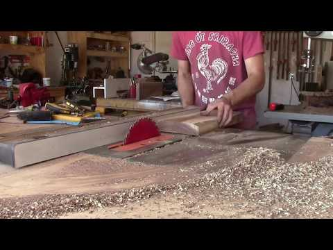 Cutting Mesquite Guitar Body Blanks From Logs