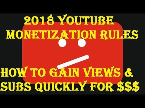 YouTube Monetization Requirements for 2018 - Don't be Discouraged
