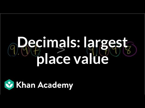 Comparing decimals: difference in largest place value | Decimals | Pre-Algebra | Khan Academy