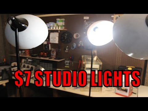 Cheap DIY Studio Lights