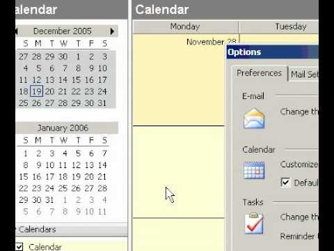 Microsoft Office Outlook 2003 Turn on or off Calendar details