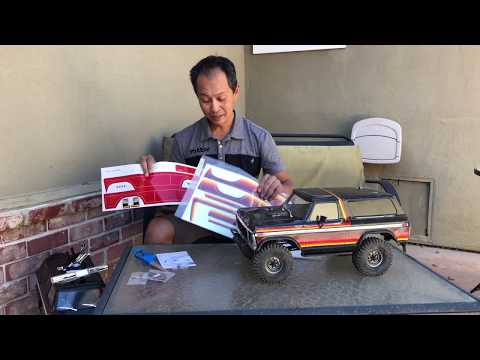 Traxxas TRX-4 Bronco pro scale body unboxing