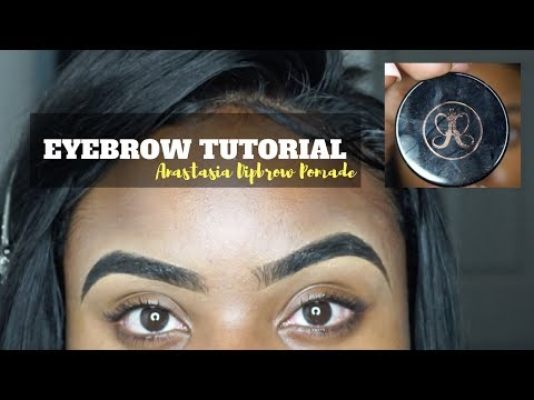 HOW I FILL IN MY EYEBROWS TUTORIAL   FT. ANASTASIA DIPBROW POMADE