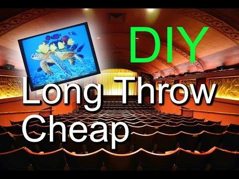 DIY Long Throw Projector w/ $12 Lens