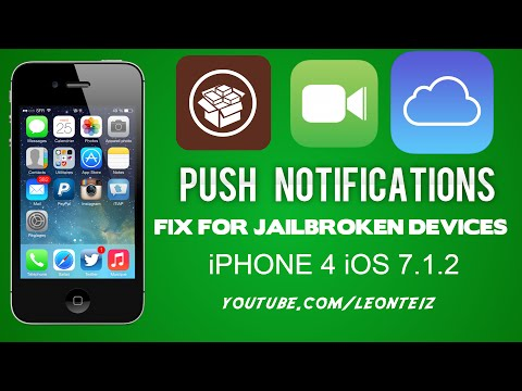 Fix Push Notifications and FaceTime / iMessage on Bypassed iPhone 4 (iOS 7.1.2)