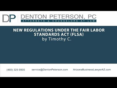New Regulations Under the Fair Labor Standards Act (FLSA) | Denton Peterson, P.C.
