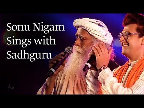 Sonu Nigam Sings with Sadhguru at Mahashivratri 2018