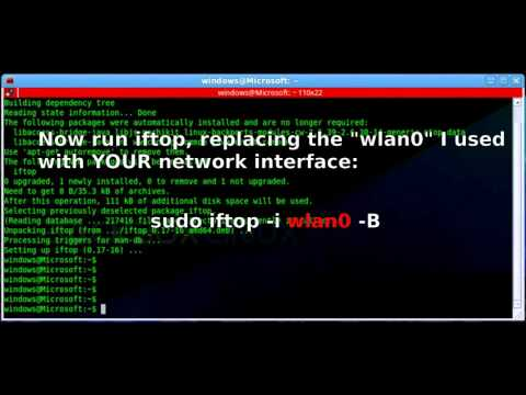 How to install IFTOP, a network traffic monitor for a Linux terminal