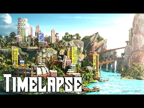 Minecraft Timelapse | Color Divercity - City by the Bay