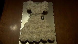 How To Make A Wedding Dress Cupcake Cake