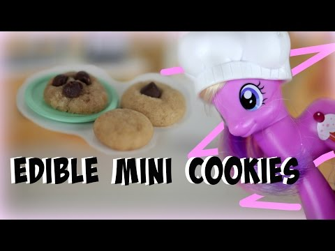 DIY: EDIBLE Mini Chocolate Chip Cookies For Toys & Dolls | Tutorial